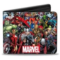 Marvel Universe Marvel Universe Heroes & Villains Portrait Logo Bi Fold Bi-Fold Wallet - One Size Fits most