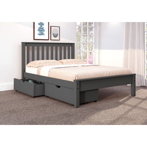 Full Contempo Bed in Dark Grey with Storage Drawers