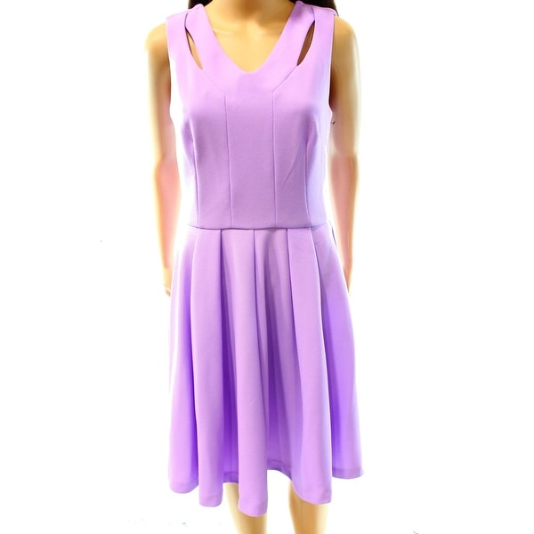 Betsey Johnson NEW Purple Women's Size 8 A-Line Textured Sheath Dress