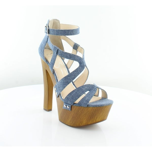 Jessica Simpson Dorrin Women's Heels Chambray Blue - 8.5