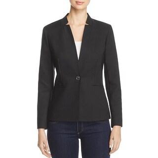 Vince Camuto Womens One-Button Blazer Notch Collar Long Sleeve