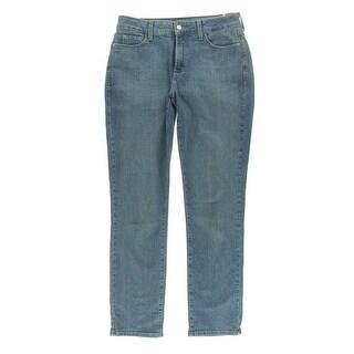 NYDJ Womens Denim Classic-Rise Skinny Jeans - 2