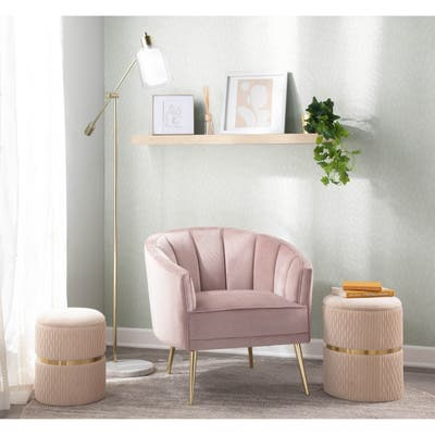 Silver Orchid Randolf Velvet Accent Chair