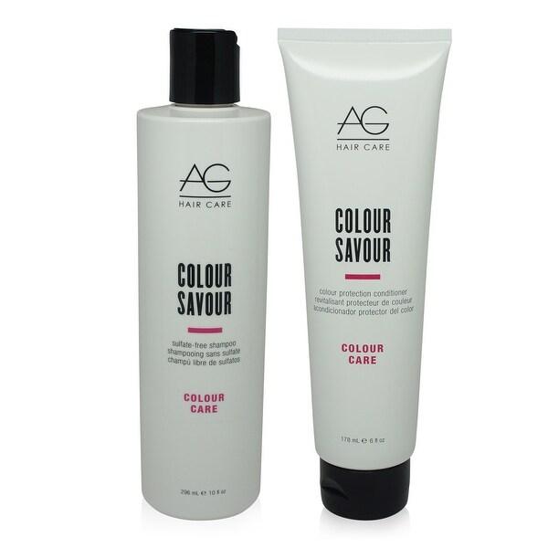 AG Hair Colour Savour Shampoo 10 Oz & Conditioner 6 Oz Combo Pack