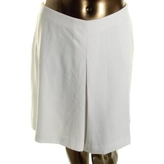 Lauren Ralph Lauren Womens Plus Culottes Solid Pleated
