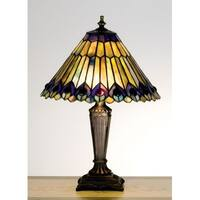 Meyda Tiffany 27564 Stained Glass / Tiffany Accent Table Lamp from the Jeweled Peacock Collection - n/a