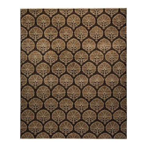 """Eclectic, One-of-a-Kind Hand-Knotted Area Rug - Brown, 8' 3"""" x 10' 1"""" - 8' 3"""" x 10' 1"""""""