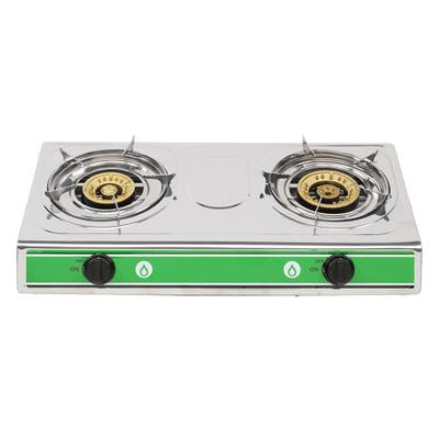 Outdoor Cooking Two Propane Burner Gas Stove