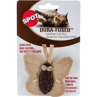 Ethical Pets Dura Fused Leather Butterfly Cat Toy, 3.5""