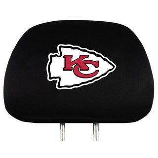 Team Promark Kansas City Chiefs Headrest Covers Set Of 2 Headrest Covers