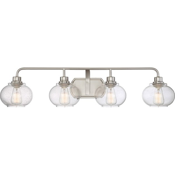 Quoizel Trg8604 Trilogy 4 Light 37 Wide Bathroom Vanity Lights With Seedy Clear