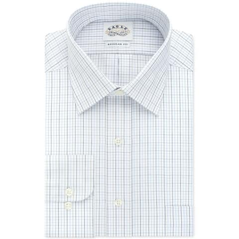 "Eagle Mens Multi Tattersall Button Up Dress Shirt, white, 15"" Neck 32""-33"" Sleeve - 15"" Neck 32""-33"" Sleeve"