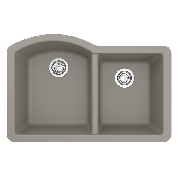 Karran Undermount Quartz Double Bowl Kitchen Sink. Opens flyout.