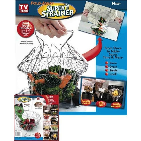 As Seen On TV Fold Away Strainer - Silver