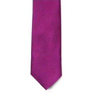 Men's 100% Microfiber Magenta Tie