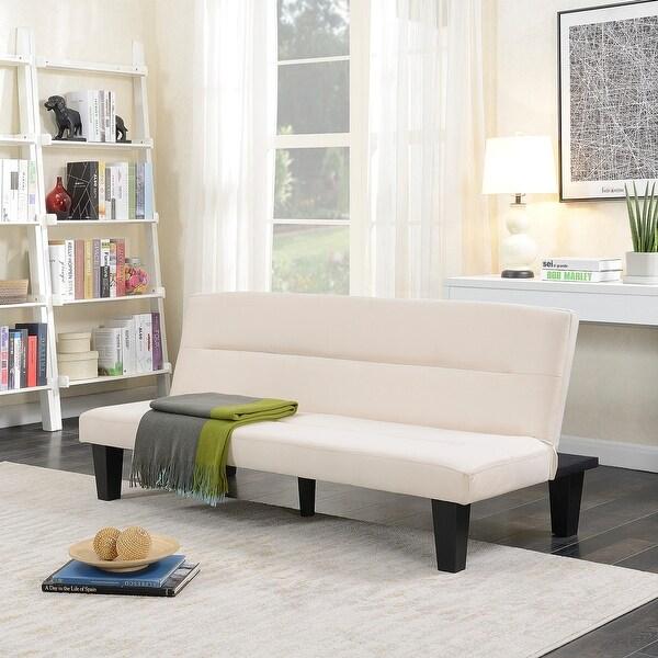 Shop Belleze Convertible Futon Bed Sofa Couch Lounger