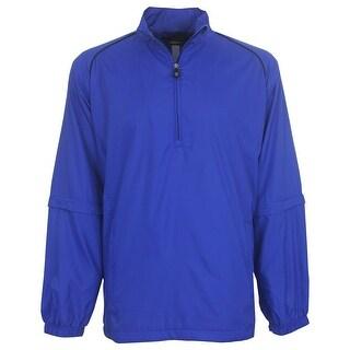 Greg Norman Golf Men's 1/4-Zip Packable Windshirt with Zip Off Sleeves