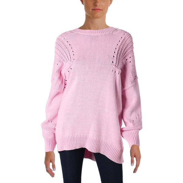 2451ab298b Shop Wildfox Couture Womens Corone Pullover Sweater Oversized V-Back ...
