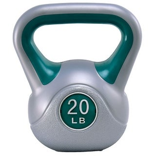 Gymax Kettlebell Exercise Fitness 20Lbs Weight Loss Strength Training - as pic