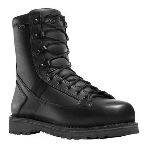 "Danner Men's Stalwart Side-Zip 8"" GORE-TEX Work Boot Black Full Grain Leather"