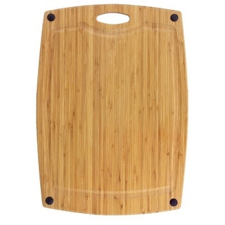 "Totally Bamboo Greenlite Cascade Dishwasher Safe Cutting and Serving board (18"")"
