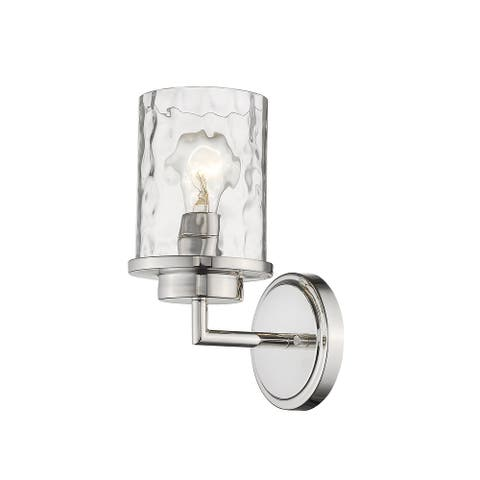 1 Light Simple Wall Sconce in Nickel