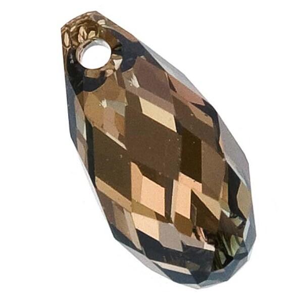 Swarovski Elements Crystal, 6010 Briolette Pendants 11x5.5mm, 2 Pieces, Crystal Bronze Shade