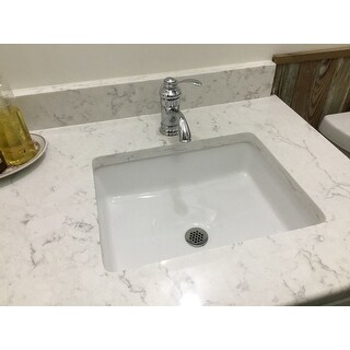 Lenova Vitreous China 20-inch x 16-inch Rectangle Undermount Bathroom Sink  - 19.5