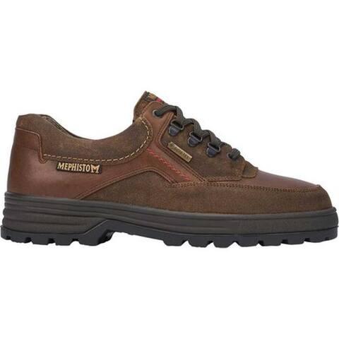 Mephisto Men's Barracuda GORE-TEX Walking Shoe Hazelnut Old Velour Smooth Leather/Suede