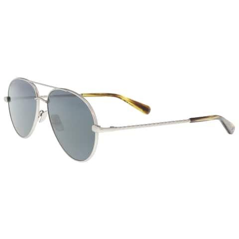 Brioni BR0034S-002 Silver Aviator Sunglasses - 67-15-145