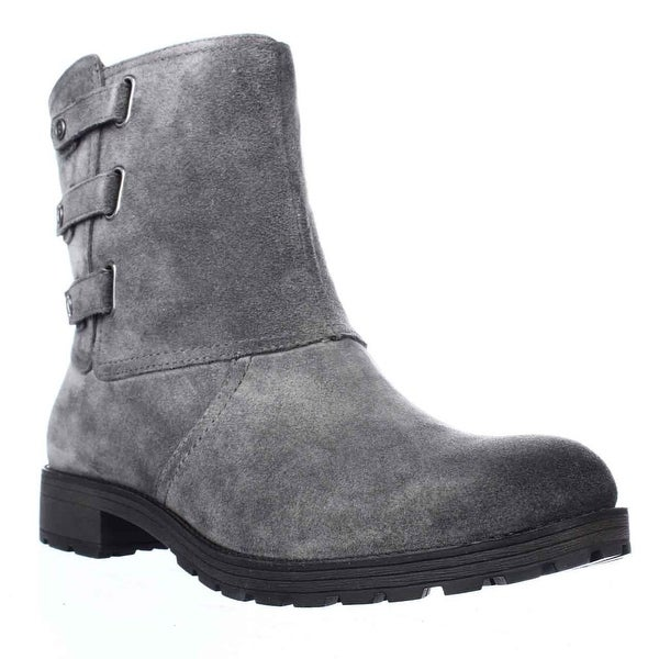 naturalizer Tynner Triple Side Strap Boots, Grey Suede