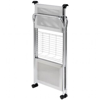 Honey Can Do CRT-01703 Folding Utility Table Kitchen Cart in Chrome