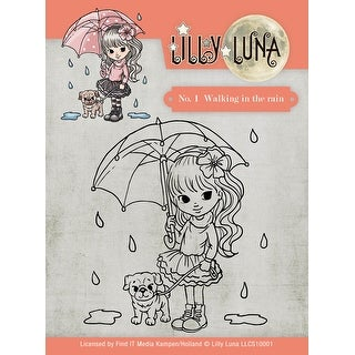 Find It Trading Lilly Luna Clear Stamps-Walking In The Rain