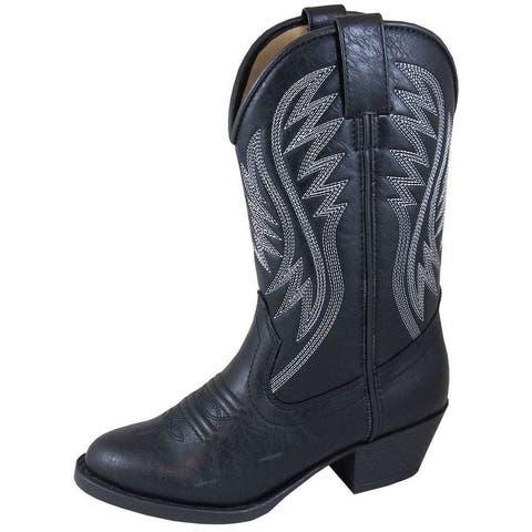 Smoky Mountain Western Boots Girls Mesquite II Black