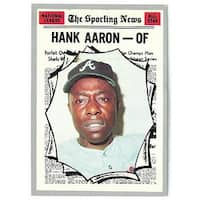 Hank Aaron 1970 Topps Sporting News NL All Star Atlanta Braves Baseball Trading Card 462 minor corn
