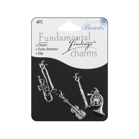 Sweet Beads Fund Find Charm Music Silver 4pc