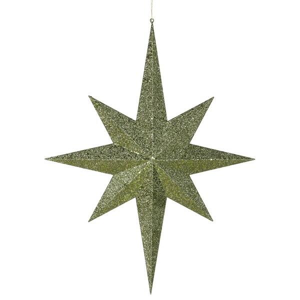 """31.5"""" Dark Olive Glitter 8 Pt Star"""