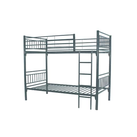 bunk/loft twin beds with GREY powder coated metal for kids