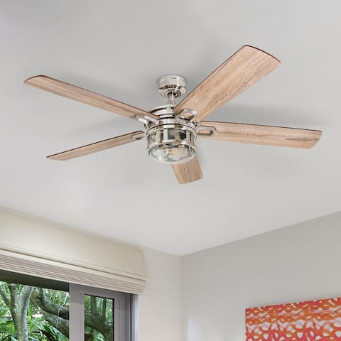 Honeywell Bontera Brushed Nickel LED Craftsman Ceiling Fan