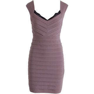 Max and Cleo Womens Susan Tiered Sleeveless Cocktail Dress - 8