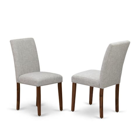 East West Furniture Upholstered Chair- Dining Chairs Includes Hardwood Structure with Fabric Seat and Simple Back - 22