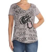 WILLIAM RAST Womens Green Printed T-Shirt Top  Size: L