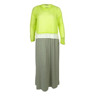 NY Collection Women's Two Piece Layered Look Dress