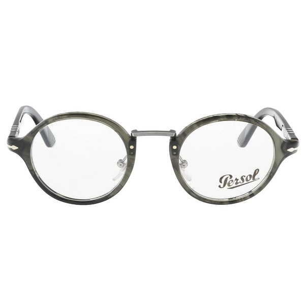e1850260f9c03 Shop Persol PO3128V 1020 Grey Round Optical Frames - 46-22-145 ...