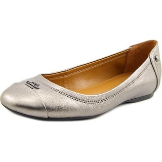 Coach Chelsea Women Round Toe Synthetic Silver Ballet Flats