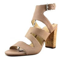 Marc Fisher Womens Paxtin Leather Open Toe Casual Strappy Sandals