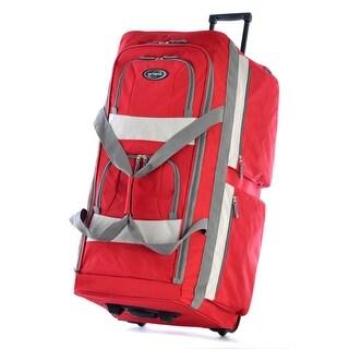 """Olympia Luggage 29"""" 8 Pocket Rolling Duffel Bag"""