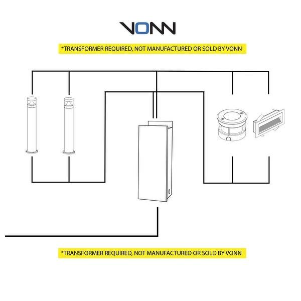 """VONN Lighting 5"""" Modern VOI19018SS Low-Voltage 3-Watt Integrated LED Outdoor In-Ground Light"""
