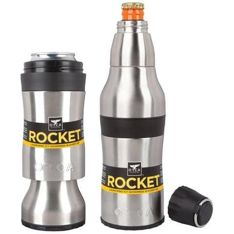 Orca ORCROCK Rocket Bottle And Can Holder, Stainless Steel, 12 Oz