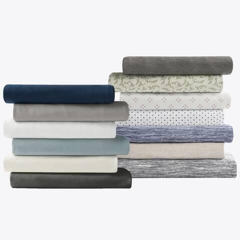 Brielle Home Jersey Knit Cotton Bed Sheet Set